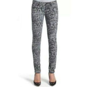 Cabi Skinny Anima Print Jeans Style 604  S4
